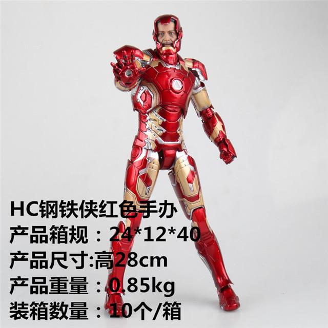 1/6HC復仇者聯盟2奧創紀元鋼鐵俠MK43紅色手辦